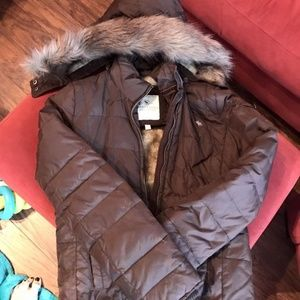 Abercrombie and Fitch Puffer Jacket with fur hood